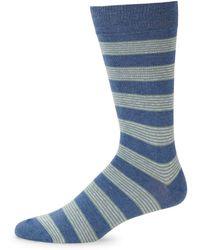 Saks Fifth Avenue - Stripe Crew Socks - Lyst