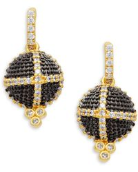Freida Rothman - Textured Ornaments Dome Drop Earrings - Lyst