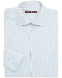 Hickey Freeman - Classic-fit Striped Cotton Dress Shirt - Lyst