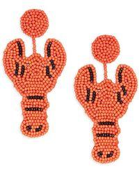 Kenneth Jay Lane - Beaded Lobster Drop Earrings - Lyst