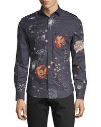 Valentino - Galaxy Cotton Button-down Shirt - Lyst