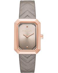 Karl Lagerfeld - Klassic Linda Leather Watch - Lyst