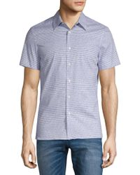 Perry Ellis - Short Sleeve Scribble Shirt - Lyst
