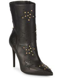 Aperlai | Velukid Nero Stelle Star Stud Stiletto Boots | Lyst