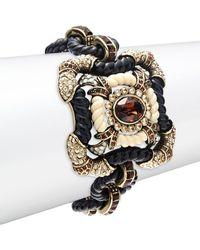 Heidi Daus - Crystal Embellished Cuff Bracelet - Lyst
