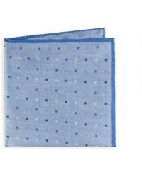Saks Fifth Avenue - Multi-dot Silk Pocket Square - Lyst