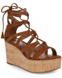 Frye - Heather Suede Gladiator Wedge Sandals - Lyst