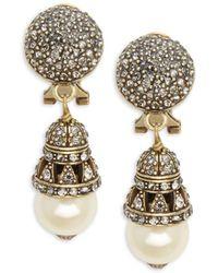 Heidi Daus - Crystal & Rhinestone Ball Drop Earrings - Lyst