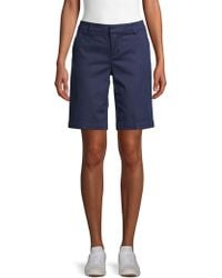 Saks Fifth Avenue Classic Cotton Blend Shorts - Blue