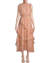 Avec Les Filles - Ruffle Smocked Dress - Lyst