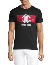 c51067db9 Roberto Cavalli - Logo Graphic T-shirt - Lyst