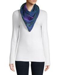 Versace - Floral Silk Scarf - Lyst