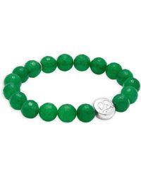 Anzie - Jade And Silver Bead Bracelet - Lyst