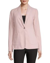 T Tahari - One Button Suit Jacket - Lyst