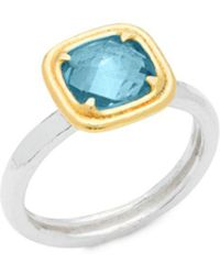 Gurhan - Silver And Swiss Blue Topaz Ring - Lyst