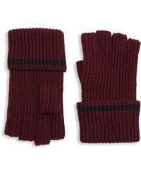 Saks Fifth Avenue - Modern Tipping Fingerless Gloves - Lyst