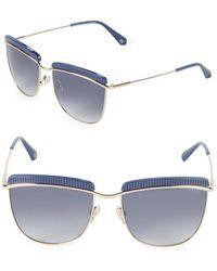 Balmain - 56mm Clubmaster Sunglasses - Lyst
