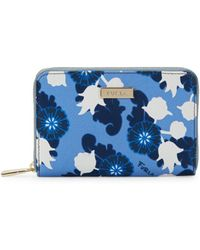 Furla - Floral Leather Zip-around Wallet - Lyst