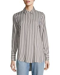 Philosophy | Striped Hi-lo Blouse | Lyst