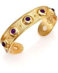 Stephanie Kantis - Balance Light Amethyst Cuff Bracelet - Lyst
