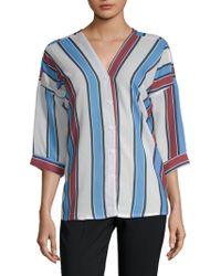 Haute Rogue - Stripe Button-down Shirt - Lyst