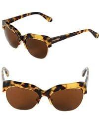 Zac Posen - Kouka 54mm Clubmaster Sunglasses - Lyst