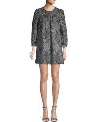 Marc Jacobs Printed Cotton Shift Dress