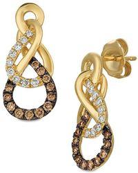 Le Vian - Chocolatier Figure Eight Vanilla & Chocolate Diamond Earrings - Lyst