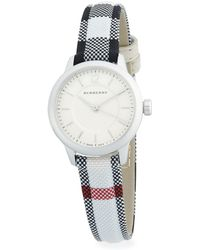 Burberry - Stainless Steel & Check Strap Watch/32mm - Lyst