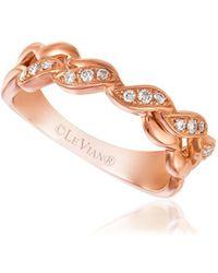 Le Vian - 14k Strawberry Gold & Vanilla Diamonds Chocolatier Twist Ring - Lyst
