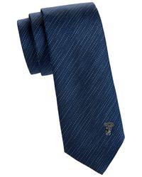 Versace - Textured Striped Silk Tie - Lyst