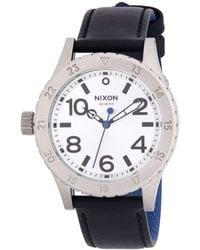 Nixon - 38-20 Leather Stainless Steel Quartz Strap Watch - Lyst