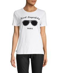 Karl Lagerfeld - Graphic Crewneck Tee - Lyst