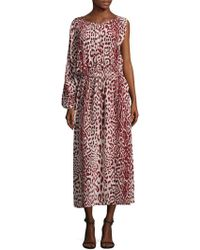 Robert Rodriguez - Leopard-print Silk Midi Dress - Lyst