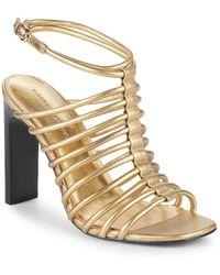 Sigerson Morrison - Ilyssa Leather Sandals - Lyst