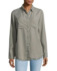 Beach Lunch Lounge - Frayed Trimmed Shirt - Lyst