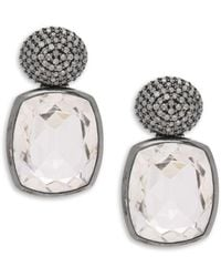 Stephen Dweck - Diamond & Sterling Silver Earrings - Lyst