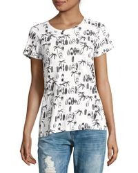 French Connection | Printed Short-sleeve Cotton Tee | Lyst