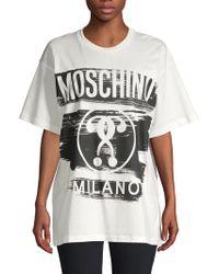 Moschino - Graphic Logo T-shirt - Lyst