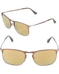 2506628261667 Persol - 52mm Square Mirrored Sunglasses - Lyst