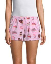 Jane And Bleecker - Cake Print Sleep Shorts - Lyst