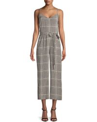 L'Agence - Jaelyn Silk Houndstooth Jumpsuit - Lyst