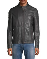bb361ec0d1 Men's BOSS Leather jackets On Sale - Lyst