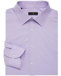Ike Behar - Regular-fit Glen Plaid Dress Shirt - Lyst