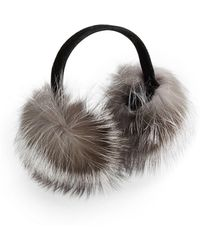 Surell - Fox Fur Earmuffs  - Lyst