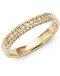 kc designs srack 14k white diamond and 14k gold ring lyst