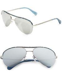 Diane von Furstenberg - 58mm Aviator Sunglasses - Lyst