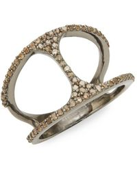 Bavna - Champagne Diamond And Sterling Silver Ring, 0.59 Tcw - Lyst