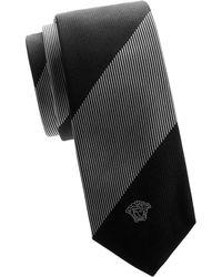 Versace - Striped Silk Tie - Lyst
