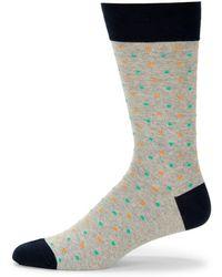 Saks Fifth Avenue - Multicolored Dots Cotton Crew Socks - Lyst